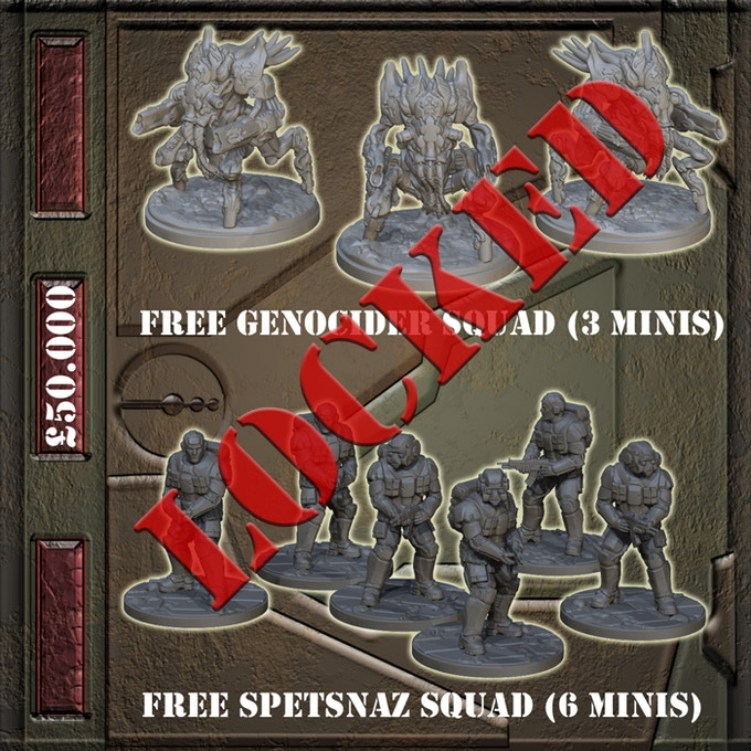 £50.000 - Genocide squad (3 minis) and Spetsnaz squad (6 minis) FREE in every Starter Set