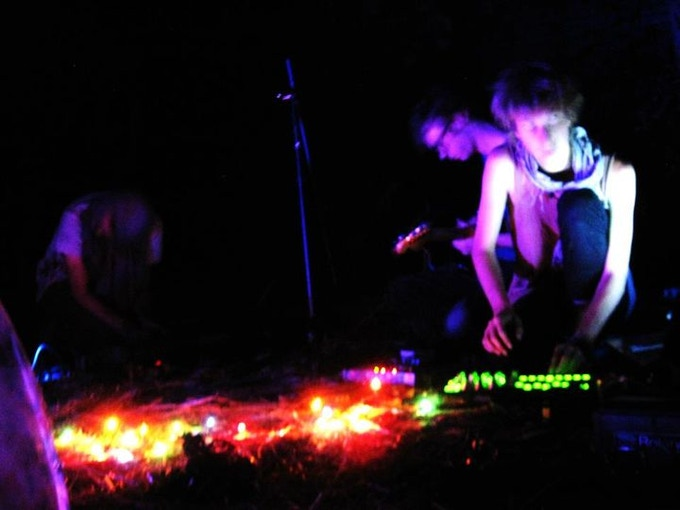 A live Stag Hare performance installation from SPIRIT CANOES album release in 2011