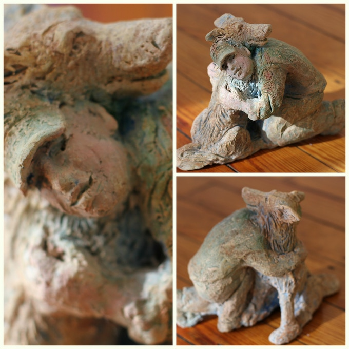 "Original RELIANCE sculpture by artist Allison Newsome. 6"" x 8.5"" x 5.5"" Clay."