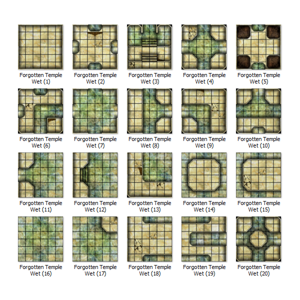 Preview of the OLD WET 20 tile set.