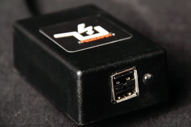 PowerPot X 10 Watt prototype regulator with dual USB ports. The PowerPot X will ship with a regulator that has a built-in power meter and it will be smaller than the prototype pictured.