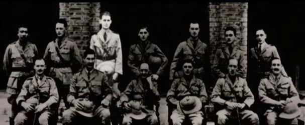 George Orwell in Burma Provincial Police Training School in Mandalay (1921).
