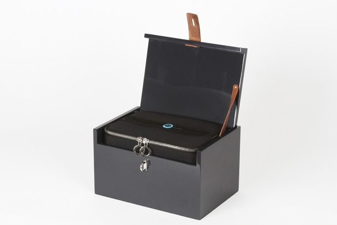 The inner case fits inside the lacquered box for functional, elegant storage.