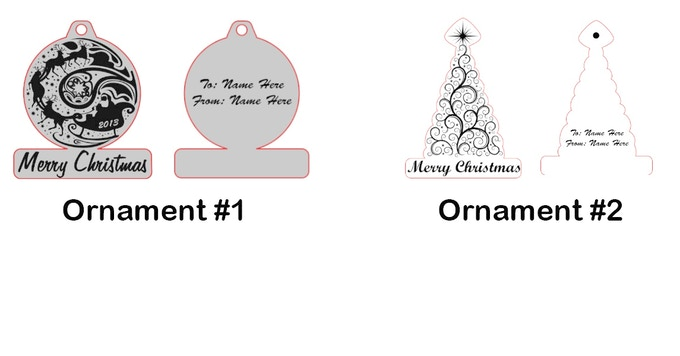 Christmas Ornaments Personalized by James Kathrein Jr