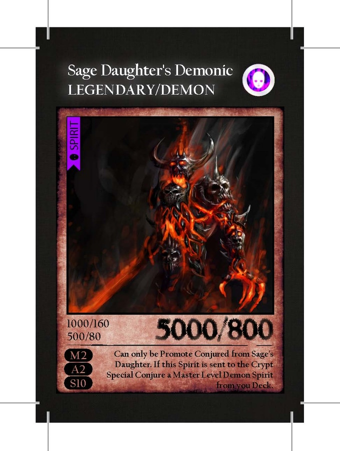 Legendary Demon Card