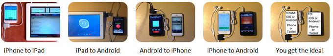 Mix & match iOS / Android devices as needed!