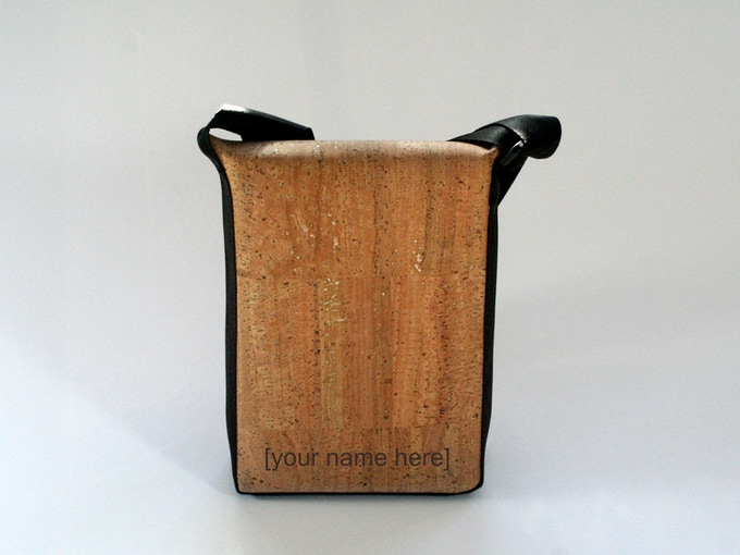 How about having your name laser etched onto the back of the bag?