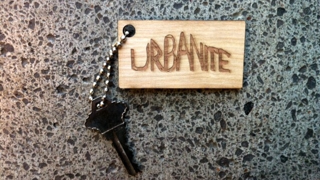 Not ready for a bag? Maybe an Urbanite keychain is the thing for you.