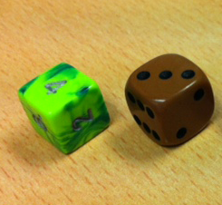 Dice colors accurate! Printing not.