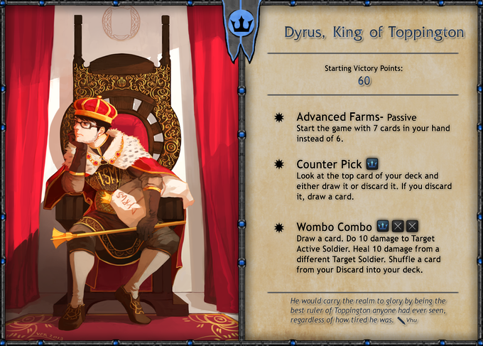 The true king of top lane, Dyrus added to the Core Set! Thanks to Dyrus for letting us make our favorite streamer into a Hero card.