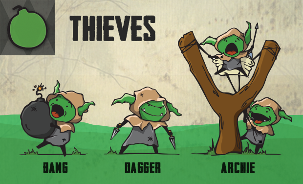 The Thieves use speed and dexterity to strike opponents when they least expect it.