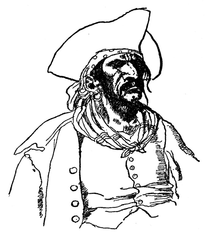"""Illustration by Howard Pyle, from """"Howard Pyle's Book of Pirates,"""" 1921."""