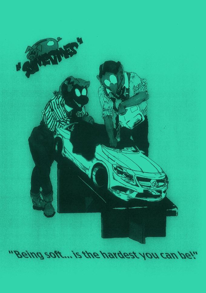 Leon Sadler A3 Analog Photocopy poster / Hand Signed & Numbered