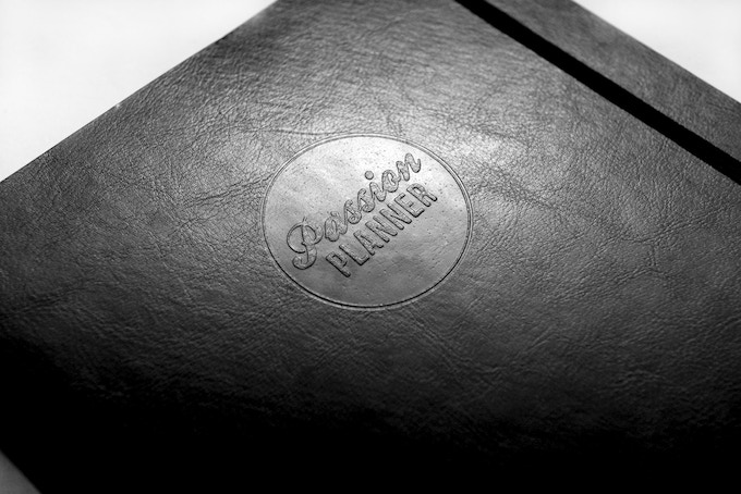 Leather embossing! So subtle yet still bold.