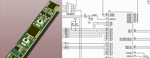 The electronics are an important part of our design, we have hired a bluetooth specialist to assist us with the electronics and firmware. Further engineering is underway at our factory. You can see a 3D image of the PCB and part of the schematics. There a