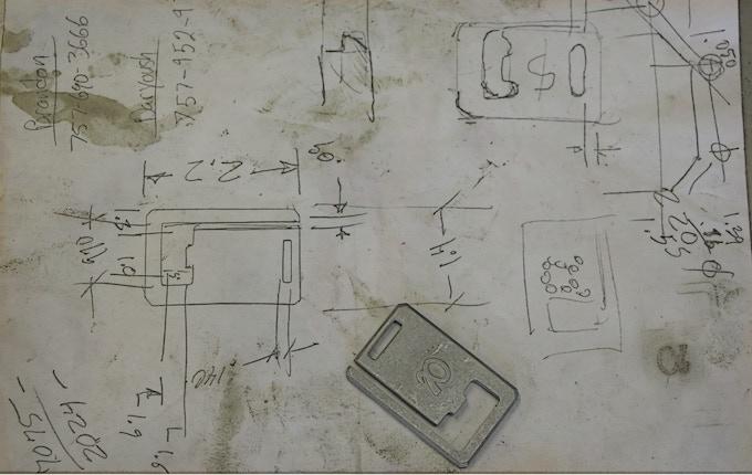 Sketching at the shop.