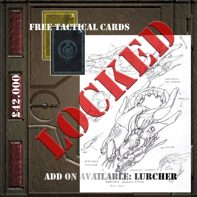 £42.000 - 2 extra Tactical Cards FREE in every Starter Set And a New add-on available: Glorlon Lurche