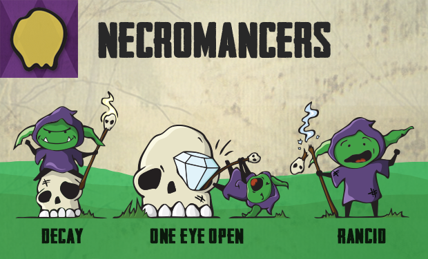 The Necromancers use dark magic to turn opponents' defeated forces into an undead army.
