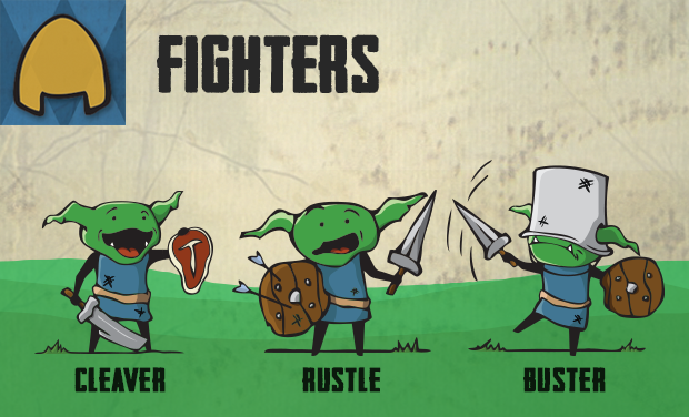 The Fighters bring great strength into battle, dealing heavy damage through a powerful offense.