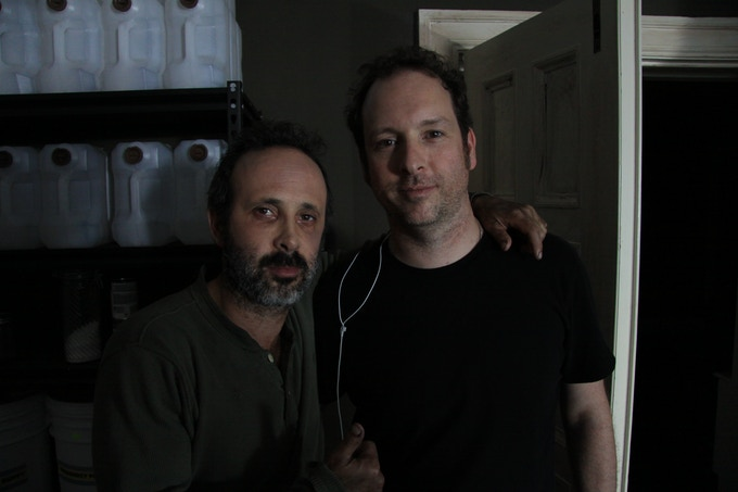 RED SNEAKERS MEDIA on the set of THE LAST HALLOWEEN! RON BASCH (L) MARC ROUSSEL (R)