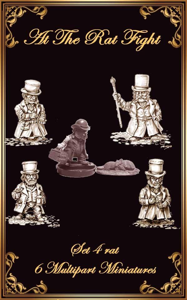 "Set 4 RAT: 6 Miniatures Set ""At The Rat Fight"""