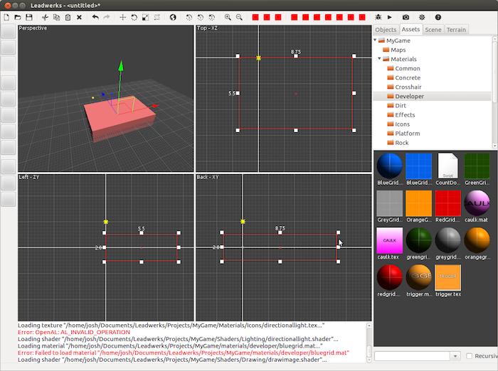 Leadwerks: Build Linux Games, on Linux  by Josh Klint » Digging in