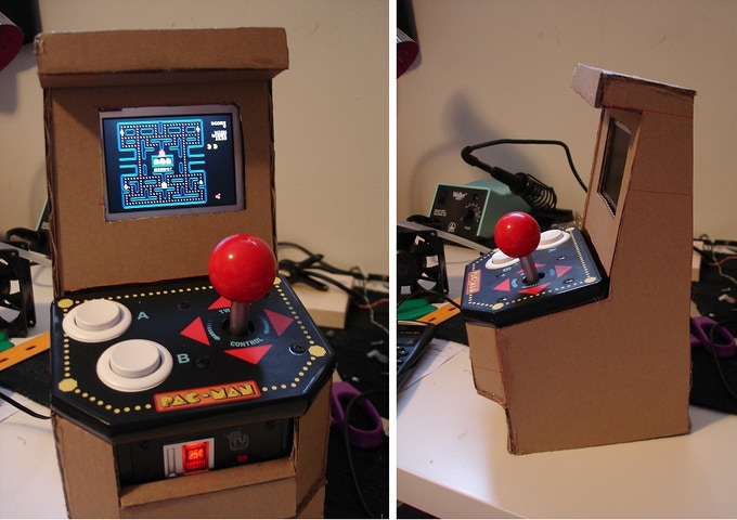Porta pi arcade a diy mini arcade cabinet for raspberry pi by ryan i thought it didnt look too ridiculous so i refined the design and built the second model from wood solutioingenieria Image collections