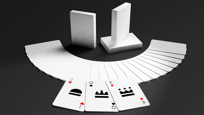The limited edition All White Standard Playing Card Deck. Click to enlarge.