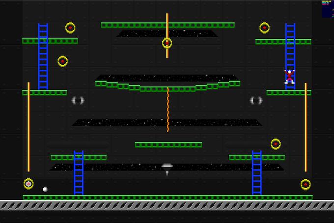Jumpman Forever Work In Progress: Stage 1, running on Mac OS X desktop