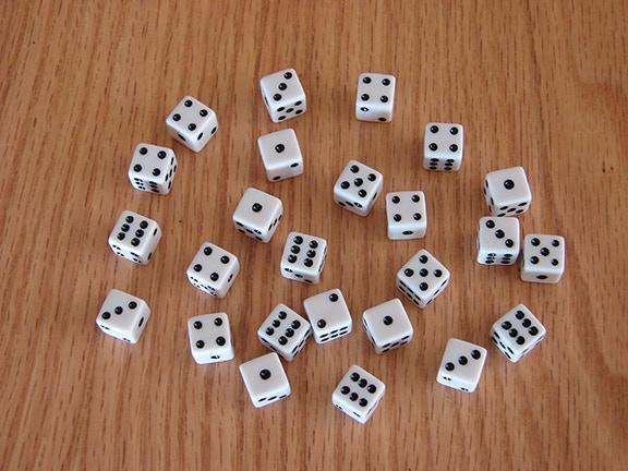 Full set of mini-dice