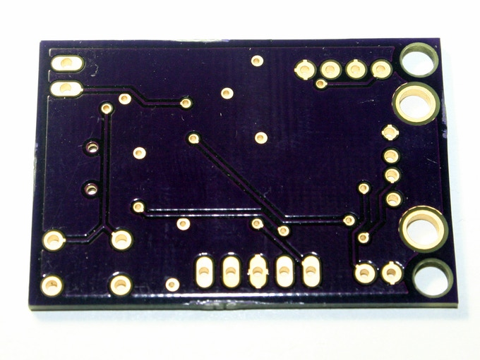 Manufactured PCB for EkZee, Bottom Side
