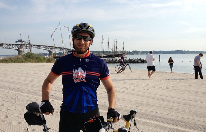 Me at the starting point in Yorktown, Virginia