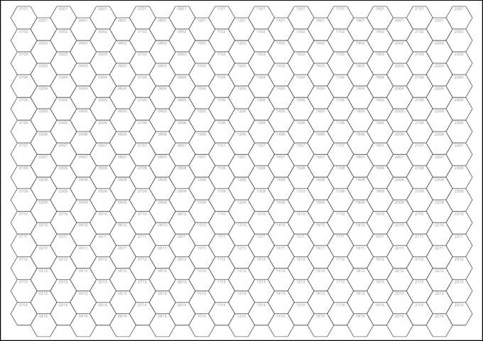 A4 Numbered Hex Pad by Peter Regan — Kickstarter