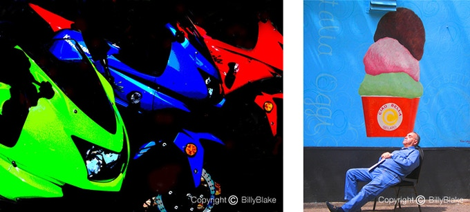 Left: from the Abstract category; Right: a Decisive Moment