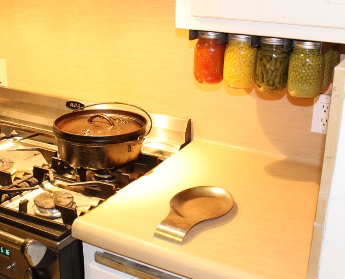 Keep your canned produce close to your stove