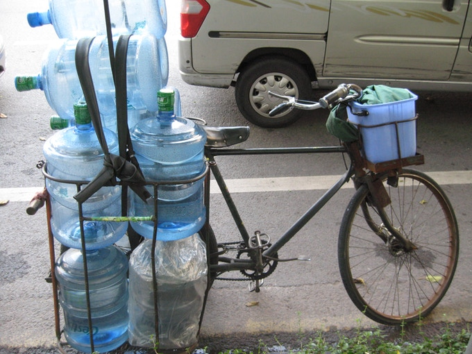 Water delivery bike in China