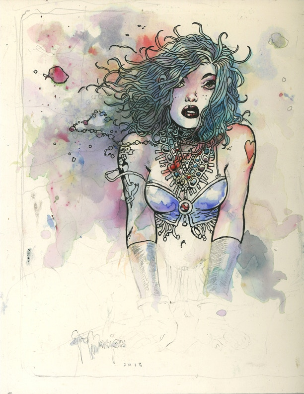 """FD """"Bust"""" WATERCOLOR above..."""
