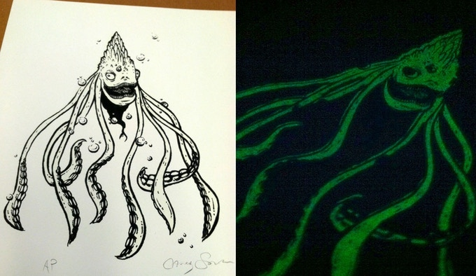 Glow-In-The-Dark Screenprint! (Artist's Test Proof)