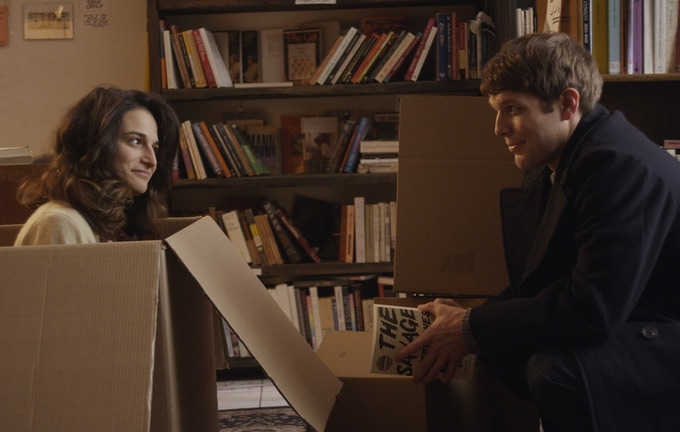 Jenny Slate + Jake Lacy in OBVIOUS CHILD