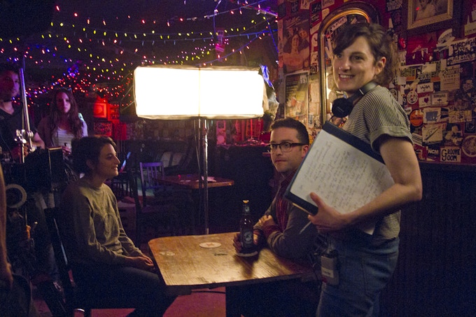 on the set of OBVIOUS CHILD @ Trash Bar in Brooklyn, NY, photo by Danielle Lurie