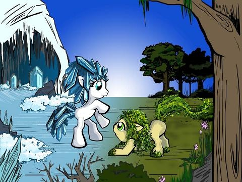 Artwork by Valerie A Ryan. Ice Pony will become unlocked.