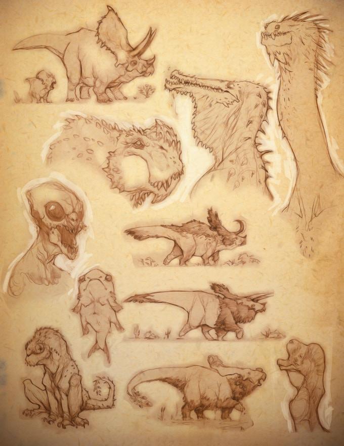 Work from Kurt's Sketchbook
