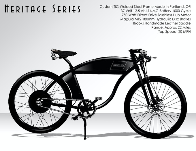 $3500 - Heritage Series 37V Electric Bike