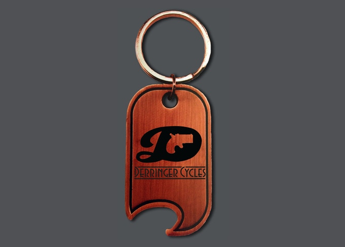 $15 - Derringer Bottle Opener Keychain in Antique Copper