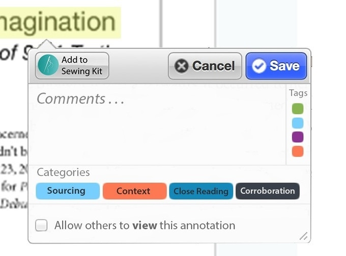 Photoshop mockup of the javascript interface we are designing that will allow you to customize each annotation.