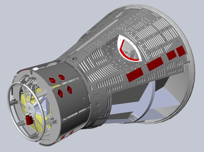 CAD Model of Gemini re-entry module.