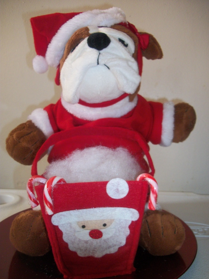Santa Bulldog -- The first models were given to friends, family and local high school students, staff and faculty to celebrate the holidays. - December 2011