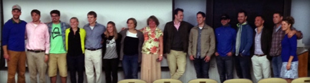 Here's a large portion of our awesome Hammer & Saw Films team who helped in the