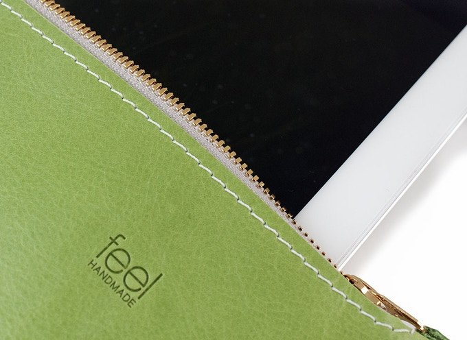 Large Utility: Grassy Green with embossed FEEL logo