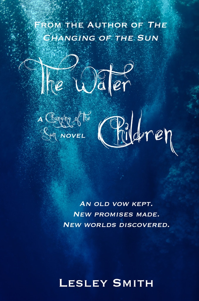 Here's the temporary cover for The Water Children. I promise the final version will be much more shiny!